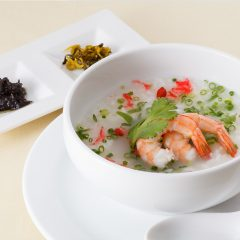 Taiwanese Style Rice Porridge (Shrimp) / 600 yen