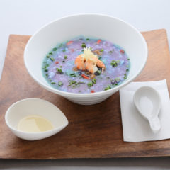 Salty Lemon Blue Taiwanese Rice Soup / 600 yen